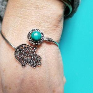 Turquoise Pashma Hand bracelet